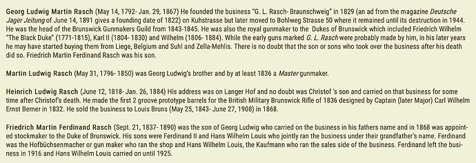 Rasch Family History.