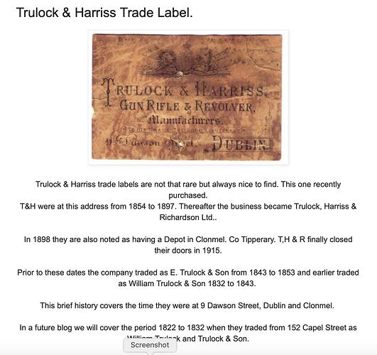 Trulock & Harriss Company History