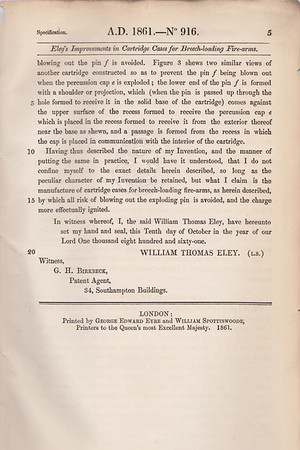 Eley 1861 Patent Page 5