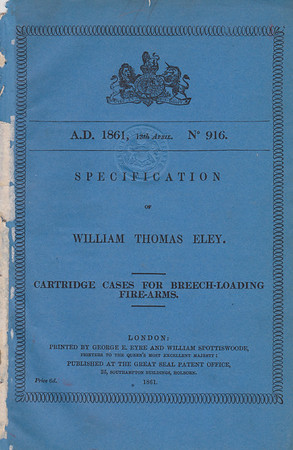Eley 1861 Patent Cover Page